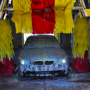 Car In Soft Touch Car Wash