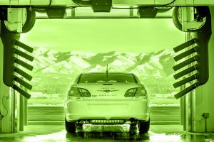 Chrysler Auto Going Through Carwash
