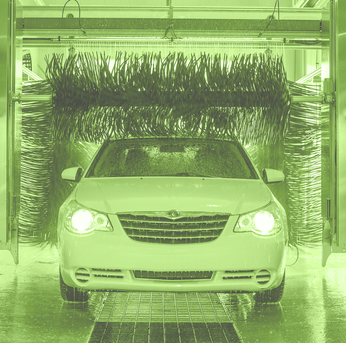 Color Section Background Front Of Chrysler Cropped Cache Car Wash